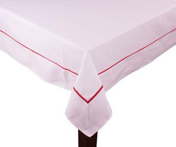 Resim Koton Beyaz Kırmızı Fitilli Dikdörtgen Masa Örtü