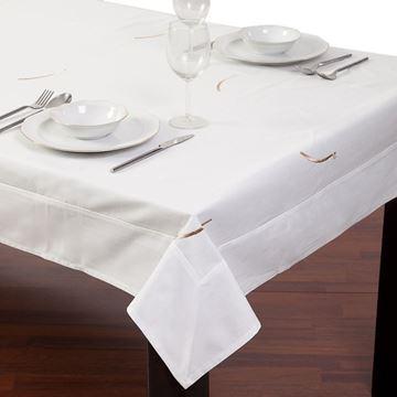 Resim Koton Beyaz Nakışlı Dikdörtgen Masa Örtü