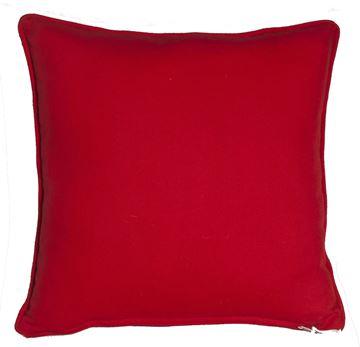 Resim Yastıkminder Koton Kırmızı Dekoratif Yastık KIRLENT KILIFI