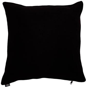 Resim Yastıkminder Koton Siyah Düz Dekoratif Yastık KILIFI