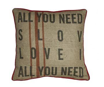 Resim Yastıkminder Jüt Kumaş Dijital Baskı All You Need Is Love Yastık