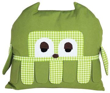 Resim Yastıkminder Koton Yeşil Dim Yaka Baykuş Yastık