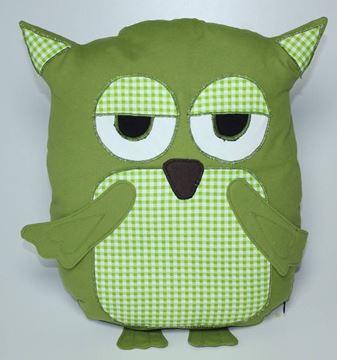 Resim Yastıkminder Koton Yeşil Piyedepul Baykuş Dekoratf Yastık