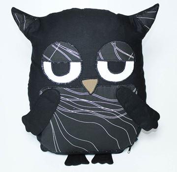Resim Yastıkminder Koton Siyah Çizgili Göbekli Baykuş Yastık