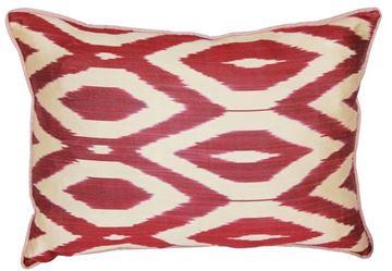 Resim Yastıkminder İpek Bordo Geometrik Desen Yastık