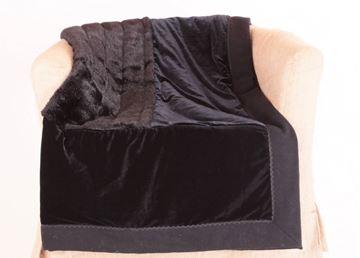 Resim İpek Kadife Kaşmir Pelüş Kürk Siyah 150x150 Dekoratif Kanepe Şalı