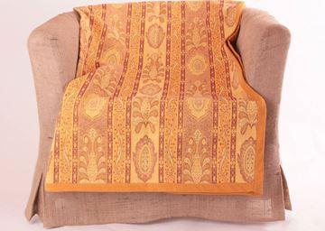 Resim Koton Sarı Kilim Desen 140X140 Dekoratif Kanepe Şalı