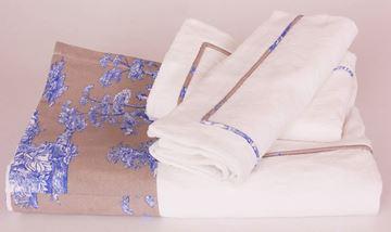 Resim Koton Beyaz Kenar Bantı Mavi T.D.J Desen Aplikeli Pike Takımı
