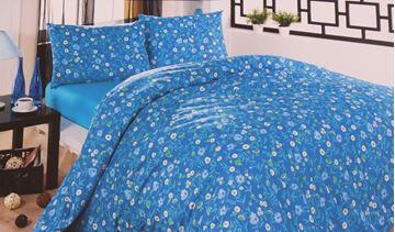 Resim Koton Mavi Çiçekli Çift Kişilik Nevresim Takımı