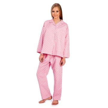 Resim Pembe Puantiye Koton Pijama
