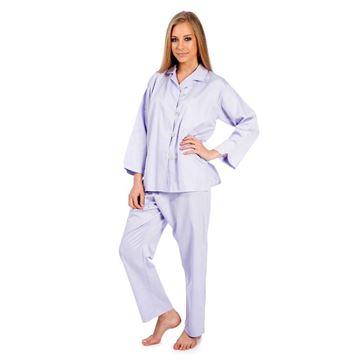 Resim Lila Saten Koton Pijama