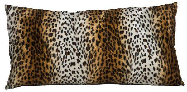 resm Yastıkminder Polyester Suni Kürk Görünümlü Leopar Desen Yastık