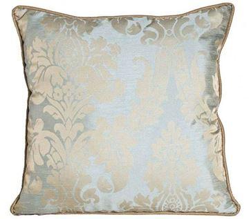 Resim Yastıkminder Tafta Soft Mavi Damask Desen Yastık kılıfı