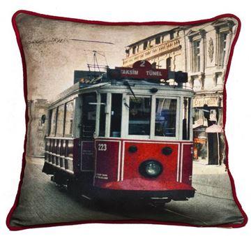 Resim Yastıkminder Koton Polyester Renkli Dijital Baskılı Yastık