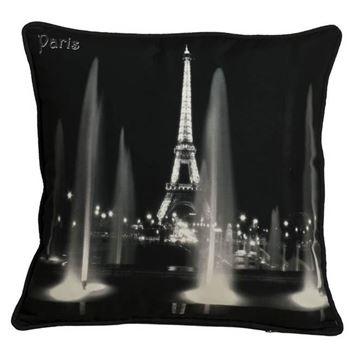 Resim Yastıkminder Koton Polyester Siyah Beyaz Dijital Baskılı Yastık
