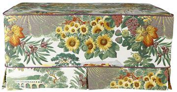 Resim Koton Yeşil Kum Havai Çiçek Desenli Puf