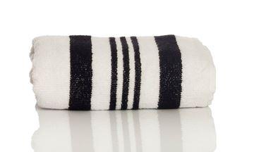 Resim Koton Siyah Beyaz 50x70 Havlu