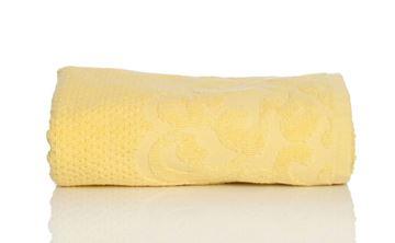 Resim Koton Sarı Petek Poku 50X80 Havlu