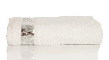 Resim Yastıkminder Koton Beyaz Payet Nakışlı 120x70Havlu