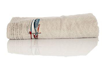 Resim Koton Gri Nakışlı 135x70 Banyo Havlusu