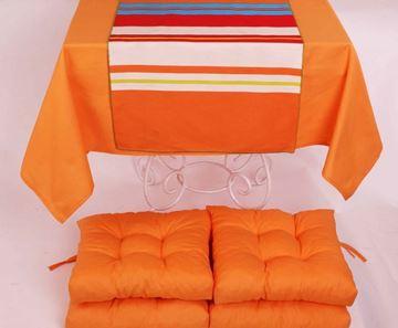 Resim Koton Oranj ( 1) 4 lü Minder Seti