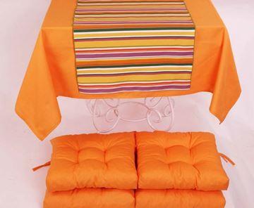 Resim Koton Oranj ( 2) 4 lü Minder Seti