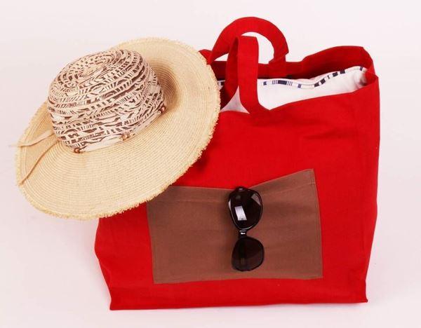 resm Koton Kırmızı Plaj-Havlu Çantası