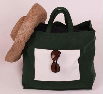 Resim Koton Nefti Yeşil Plaj-Havlu Çantası