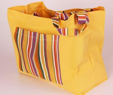 Resim Koton Sarı Çizgili Çepli Saplı Plaj-Havlu Çantası