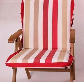 Resim Polyester Kırmızı Bordo Çizgili  Çanta Şezlong Minderi