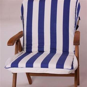 Resim Lacivert Beyaz Çizgili Koton Çanta Şezlong Minderi