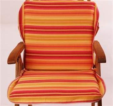 Resim Oranj Pembe Sarı Çizgili Koton Çanta Şezlong Minderi