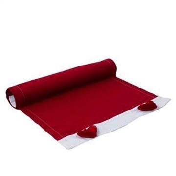 Resim Koton Kırmızı Kadife Kalpler Sarkaçlı  Runner