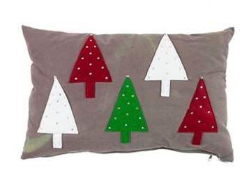 Resim Yastıkminder Koton Kamuflaj 5 Ağaç Aplıke Dekoratif Yastık
