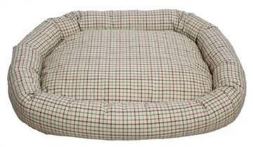 Resim Yastıkminder Ekose Desenli Köpek Yatağı