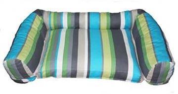 Resim Yastıkminder Renkli Kalın Çizgi Desenli Köpek Yatağı
