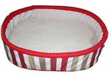 Resim Yastıkminder Kırmızı Çerçeveli Köpek Yatağı