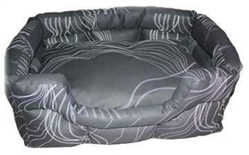 Resim Yastıkminder İplik Desenli Dörtgen Köpek Yatağı