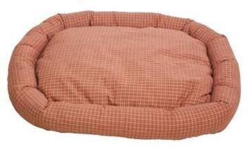 Resim Yastıkminder Ekose Desenli Kiremit Köpek Yatağı