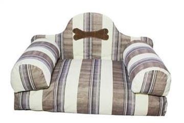 Resim Yastıkminder Kalın Çizgi Desenli Koltuk Model Köpek Yatağı