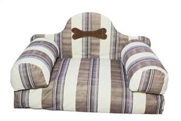 resm Yastıkminder Kalın Çizgi Desenli Koltuk Model Köpek Yatağı