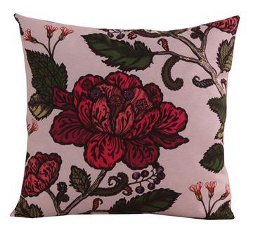 Resim Koton Vizon Bordo Nefti Çiçekler Desenli Dekoratif Yastık
