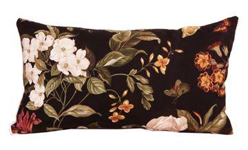 Resim Koton Siyah Byaz Çiçekli Dekoratif Yastık Kılıfı