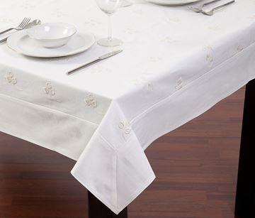 Resim Koton Beyaz Çiçek Nakışlı Dikdörtgen Masa Örtü
