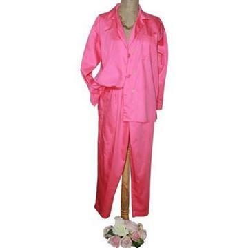 Resim Koton Saten Fuşya Pembe  Pijama