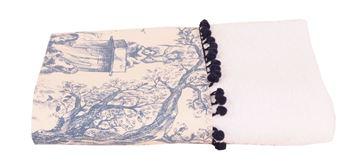 Resim Koton Beyaz Aplike Edilmiş 100x55 havlu