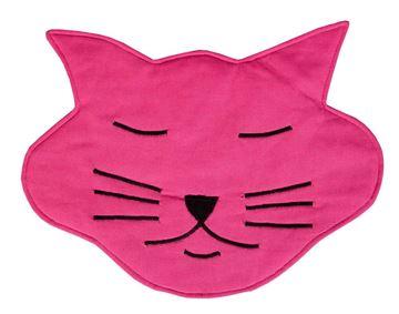 Resim Koton Kedi Formunda Pembe Piko Nakışlı Amerkan Servis