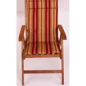 Resim Koton Çift Kademeli Bordo Çizgili sandalye minderi Minderi