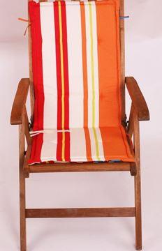 Resim Koton Çift Kademeli Oranj Çizgili Sandalye Minderi