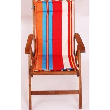 Resim Koton Çift Kademeli Turkuaz Kırmızı Çizgili Sandalye Minderi